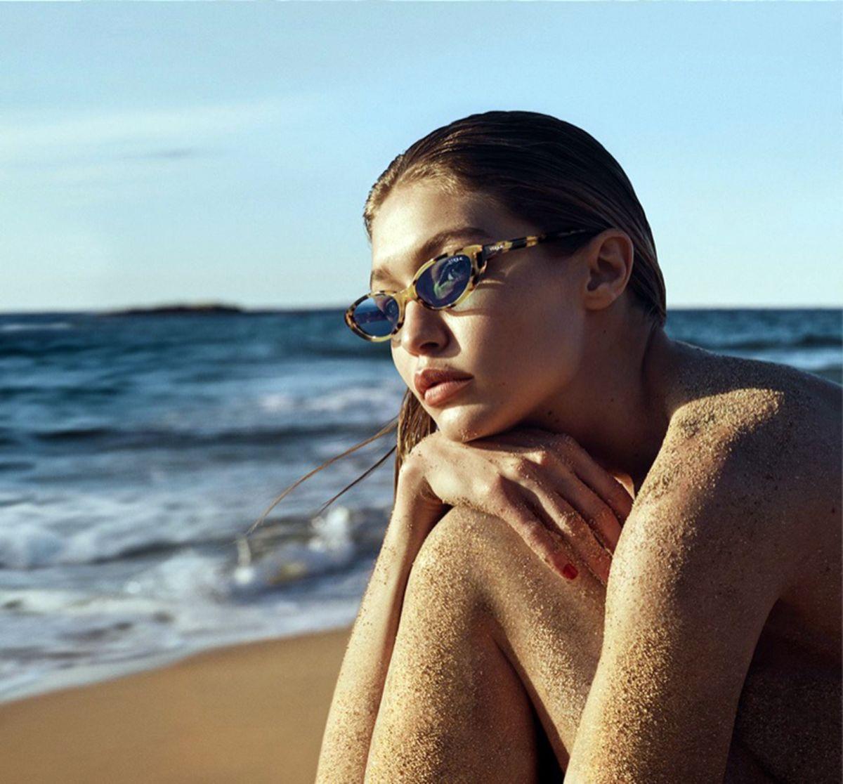 aab637e62c GIGI HADID for Vogue Eyewear Advertising Campaign .