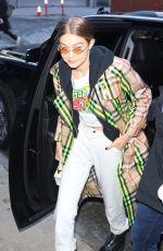 GIGI HADID Heading at Anna Sui Runway Show at NYFW in New York 02/12/2018
