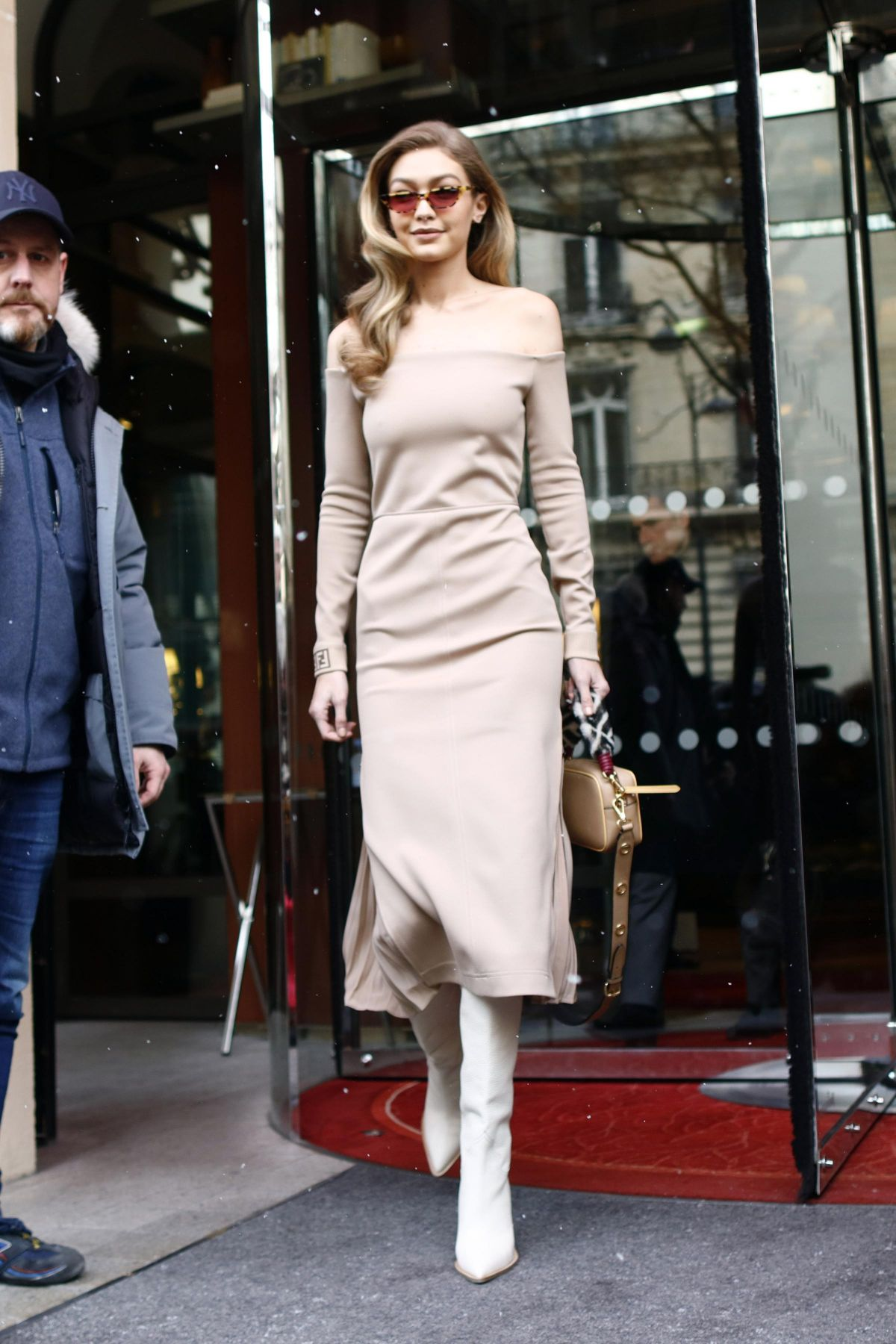 GIGI HADID Leave Le Royal Monceau Hotel in Paris 02/27/2018 - HawtCelebs