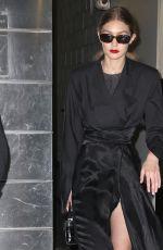 GIGI HADID Leaves Brandon Maxwell Fashion Show at NYFW in New York 02/11/2018