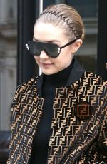 GIGI HADID Leaves Her Apartment in New York 02/20/2018