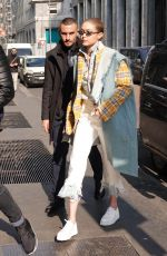 GIGI HADID Out and About in Milan 02/21/2018