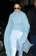 GIGI HADID Out and About in New York 02/06/2018