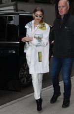 GIGI HADID Out at Fashion Week in New York 02/09/2018