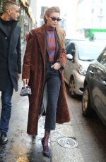GIGI HADID Out for a Coffee in Milan 02/22/2018