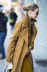 GIGI HADID Out in New York 02/03/2018