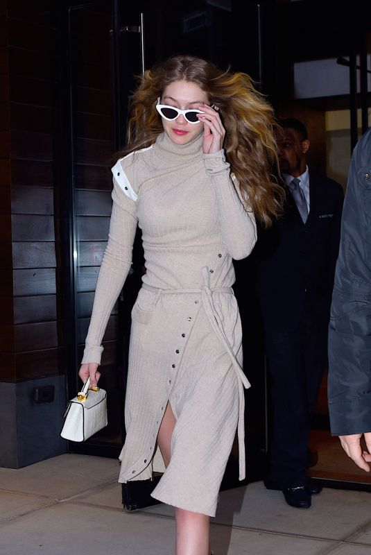 GIGI HADID Out in New York 02/07/2018