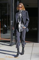 GIGI HADID Out to Fashion Week in New York 02/08/2018
