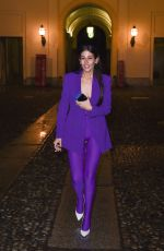 GILDA AMBROSIO Arrives at Versace Fashion Show in Milan 02/23/2018