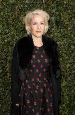 GILLIAN ANDERSON at Charles Finch & Chanel Pre-bafta Party in London 02/17/2018