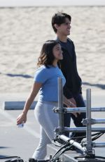 GINA RODRIGUEZ on the Set of Jane the Virgin in Los Angeles 02/19/2018