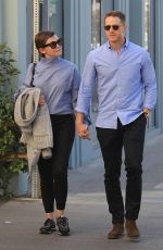 GINIFER GOODWIN and Josh Dallas Out for Lunch in Beverly Hills 02/09/2018