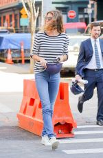 GISELE BUNDCHEN at a Construction Site in New York 02/21/2018
