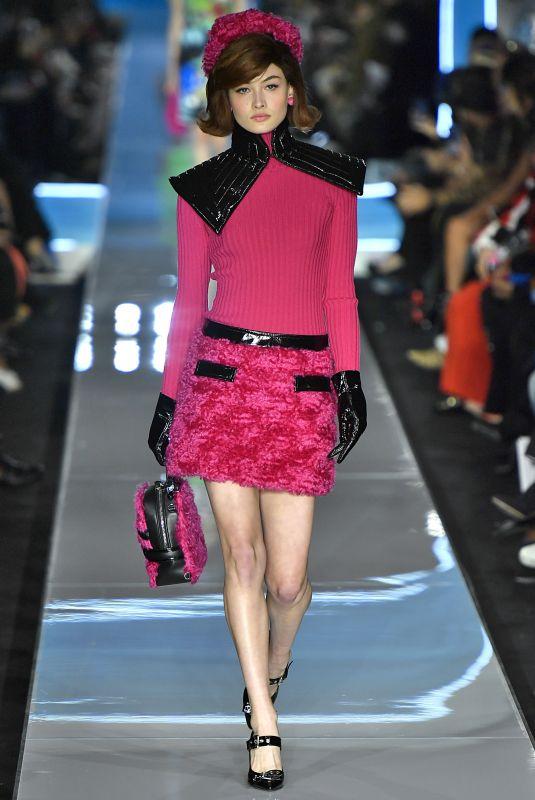 GRACE ELIZABETH at Moschino Runway Show at Milan Fashion Week 02/21/2018