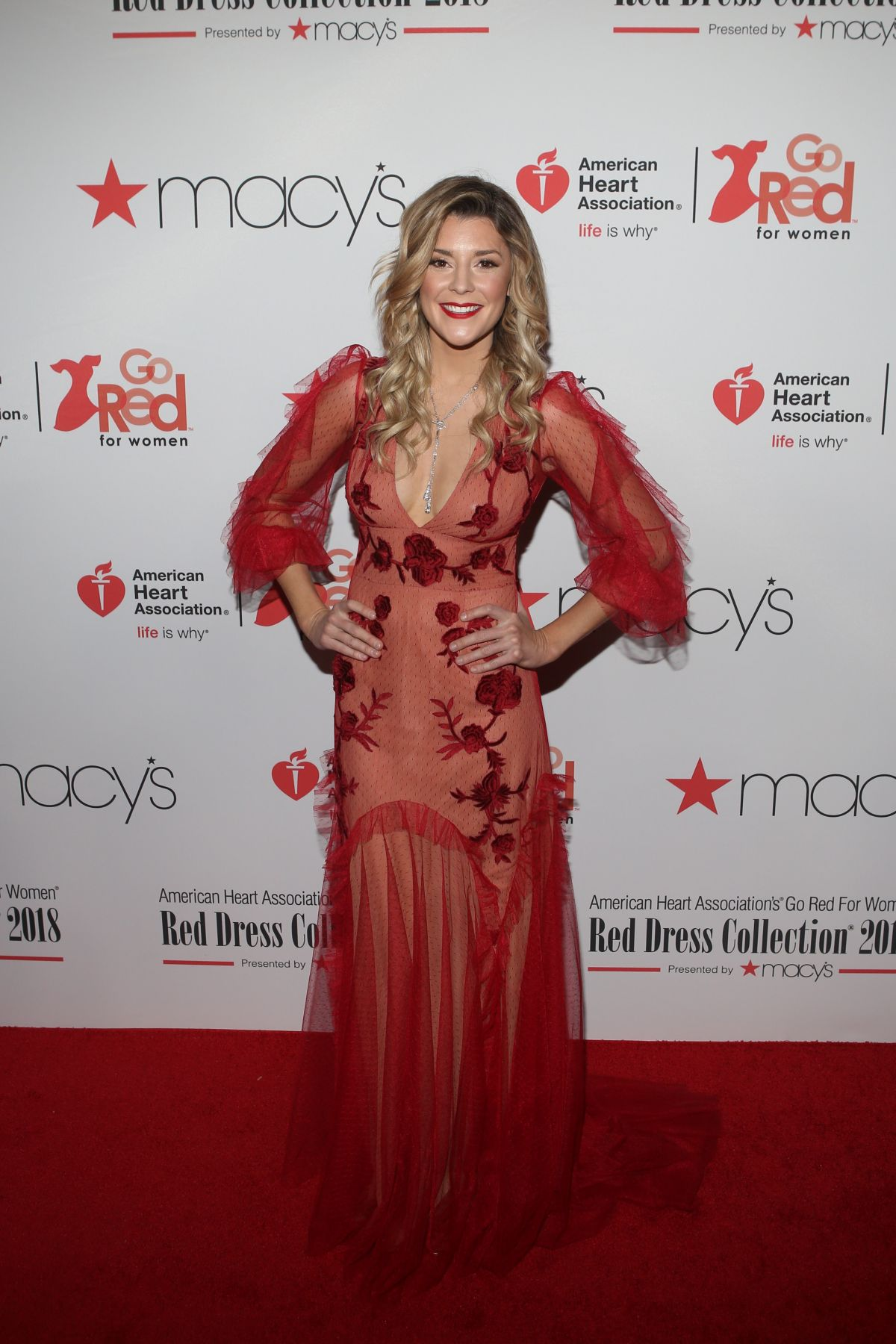 GRACE HELBIG at Go Red for Women Red Dress Collection 2018 ... Red Dresses For Women 2018