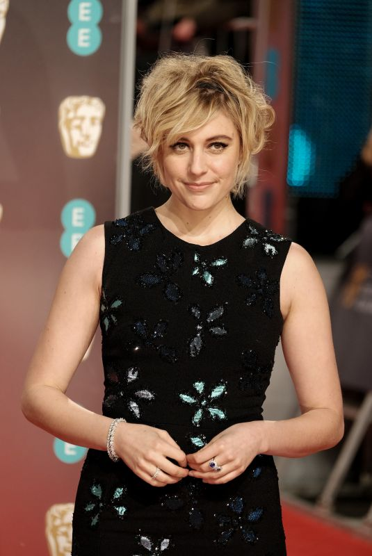 GRETA GERWIG at BAFTA Film Awards 2018 in London 02/18/2018