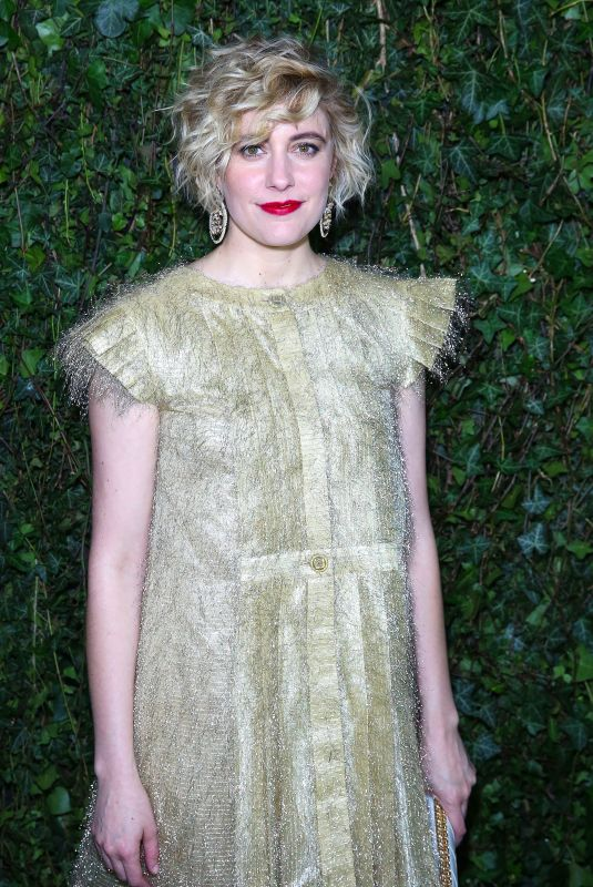 GRETA GERWIG at Charles Finch & Chanel Pre-bafta Party in London 02/17/2018