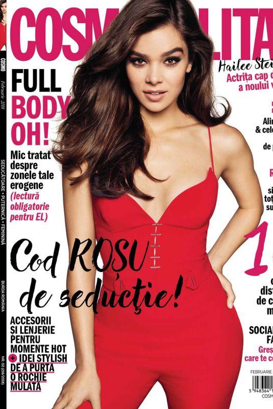 HAILEE STEINFELD in Cosmopolitan Magazine, Romania February 2018