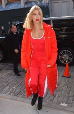 HAILEY BALDWIN All in Red Out in New York 02/08/2018