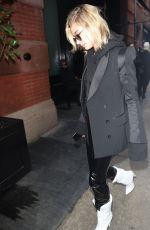 HAILEY BALDWIN Arrives at Mercer Hotel in New York 02/12/2018
