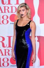 HAILEY BALDWIN at Brit Awards 2018 in London 02/21/2018