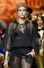 HAILEY BALDWIN at Dolce and Gabbana Show at Milan Fashion Week 02/25/2018