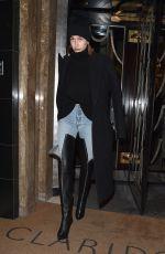 HAILEY BALDWIN Leaves Claridge Hotel in London 02/19/2018