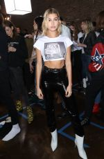 HAILEY BALDWIN on the Backstage of Zadig & Voltaire Fashion Show in New York 02/12/2018