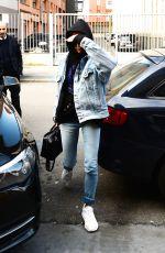 HAILEY BALDWIN Out at Milan Fashion Week 02/26/2018