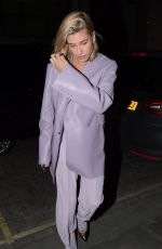 HAILEY BALDWIN Out for Dinner at Zuma Restaurant in London 02/22/2018