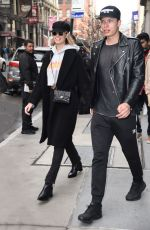 HAILEY CLAUSON and Julian Herrera Out in New York 02/15/2018