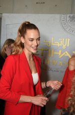HANNAH FERGUSON at Etihad Airways VIP Lounge at NYFW in New York 02/08/2018