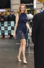 HEATHER GRAHAM Arrives at AOL Build Series in New York 02/23/2018