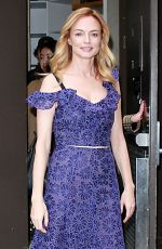 HEATHER GRAHAM Leaves Today Show in New York 02/26/2018