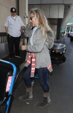 HEATHER THOMAS at LAX Airport in Los Angeles 02/27/2017