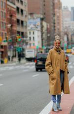 HELENA BORDON Out at New York Fashion Week 02/09/2018