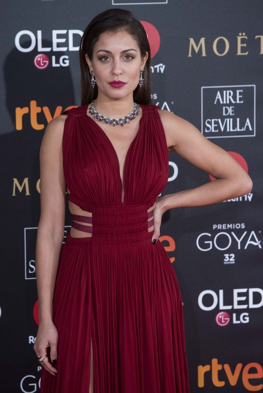HIBA ABOUK at 32nd Goya Awards in Madrid 02/03/2018