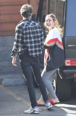 HILARY DUFF and Matthew Koma at Veterinarian Office in Los Angeles 02/06/2018