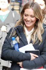HILARY DUFF on the Set of Younger in New York 02/20/2018