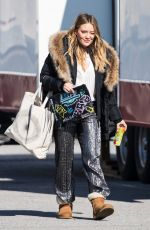 HILARY DUFF on the Set of Younger in New York 02/27/2018