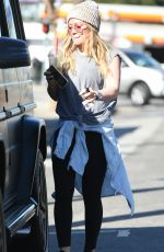 HILARY DUFF Out and About in Los Angeles 02/07/2018