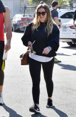 HILARY DUFF Out and About in Los Angeles 02/09/2018