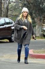 HILARY DUFF Out and About in Toluca Lake 02/10/2018