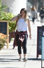 HILARY DUFF Out for Lunch in Los Angeles 02/15/2018