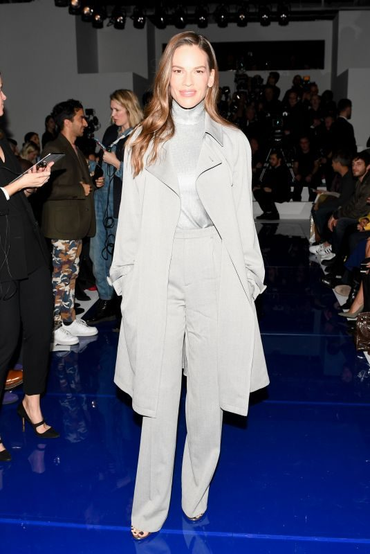 HILARY SWANK at Ralph Lauren Show at New York Fashion Week 02/12/2018
