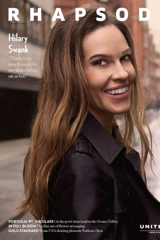 HILARY SWANK in Rhapsody Magazine, February 2018