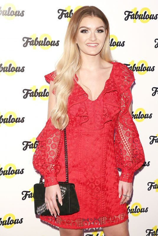 HOLLY TANDY at Fabulous Magazine 10th Birthday Party in London 02/06/2018