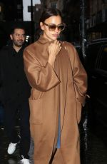 IRINA SHAYK Leaves Her Hotel in New York 02/11/2018