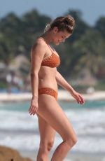 ISKRA LAWRENCE and NINA AGDAL in Bathing Suit on the Set of Aerie Photoshoot in Tulum 02/21/2018