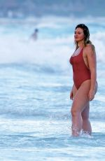 ISKRA LAWRENCE in Swimsuit at a Beach in Tulum 02/21/2018